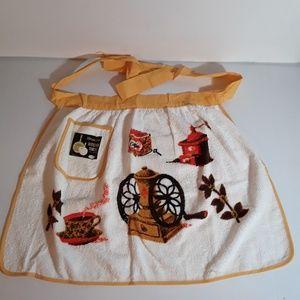 Vintage kitchen apron. Terrycloth. Colonial NWT